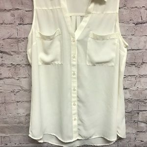 Express women's blouse sleeveless white Sz M